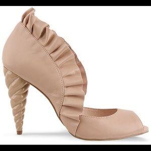 Jeffrey Campbell Michelle Peep Toe Unicorn Heels